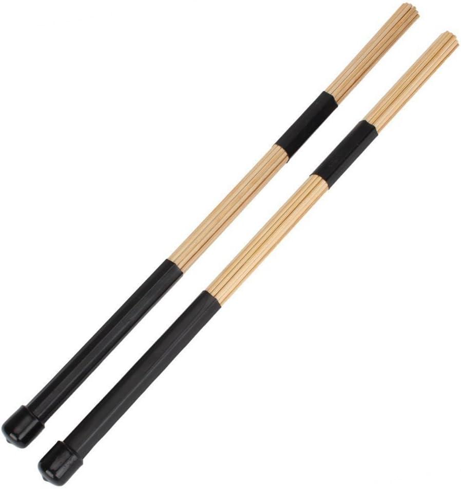 PIXNOR Pack de 2 baquetas de varillas de bambú para batería, 40 cm ...
