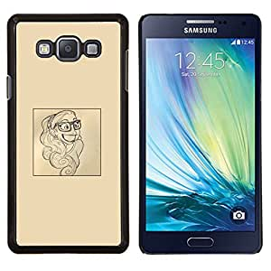 Dragon Case - FOR Samsung Galaxy A7 - smart smile poster paper artist sketch - Caja protectora de pl??stico duro de la cubierta Dise?¡Ào Slim Fit