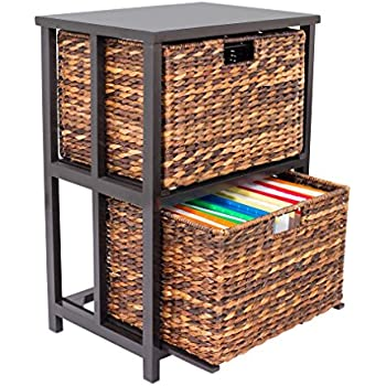Ordinaire BirdRock Home Abaca 2 Tier File Cubby Cabinet | Vertical Storage Furniture  | 2 Drawers |