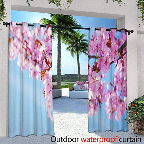 Lightly Exterior/Outside Curtains,Phoenix Bird,W84 x L108 Outdoor Patio Curtains Waterproof with Grommets (Phoenix Patio Curtains Outdoor)