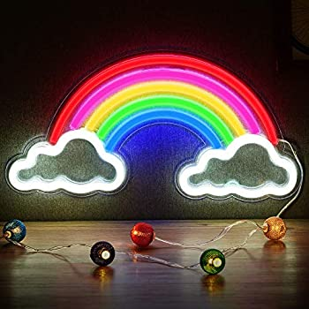 Neon Rainbow Light, Christmas Festival LED Wall Decor Light Art Neon Light Sign for Home Decoration,Bedroom, Lounge, Office, Wedding, Christmas, Valentine's Day Party Powered by USB