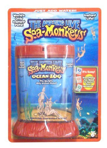 Deluxe Game Aquarium (Big Time Toys Sea Monkeys Ocean Zoo Deluxe Kit Set- Colors May Vary)