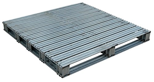 Vestil-SPL-4848-Galvanized-Finished-Steel-Pallet-Uniform-Floor-Static-Capacity-8000-lb-Uniform-Fork-Dynamic-Capacity-4000-lb-Unsupported-Pallet-Rack-Capacity-2200-lb-48-Length-48-Width-10-Height