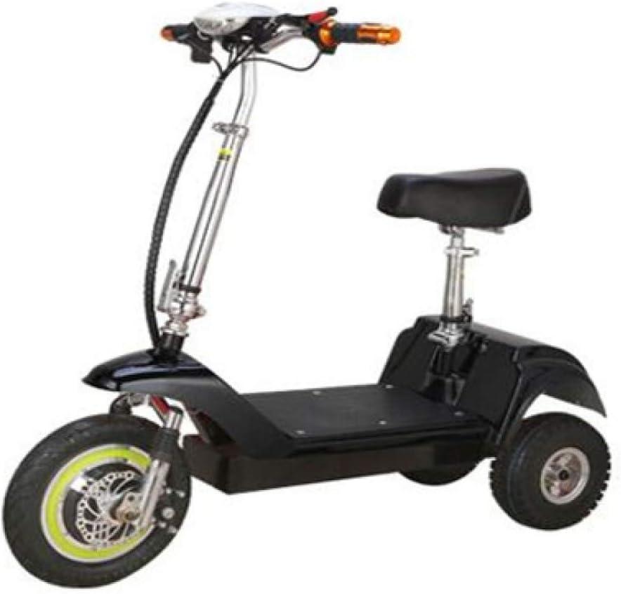 Batería De Litio Scooter Eléctrico para Adultos Eléctrico Pequeño Plegable Triciclo 36V 350W De Motor Sin Escobillas Black