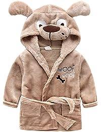 cc46163c72 Kids Bathrobes Sleepwear Flannel Nightgowns Soft Sleep Robe Loungewear Warm
