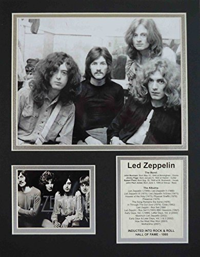 """Led Zeppelin - Early Years 11"""" X 14"""" Unframed Matted Photo Collage By Legends Never Die, Inc."""
