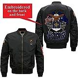Familyloves U.S AIR Force Veteran Embroidered Jacket (Large, Black)