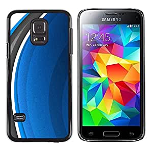 Paccase / SLIM PC / Aliminium Casa Carcasa Funda Case Cover - Abstract Blue - Samsung Galaxy S5 Mini, SM-G800, NOT S5 REGULAR!