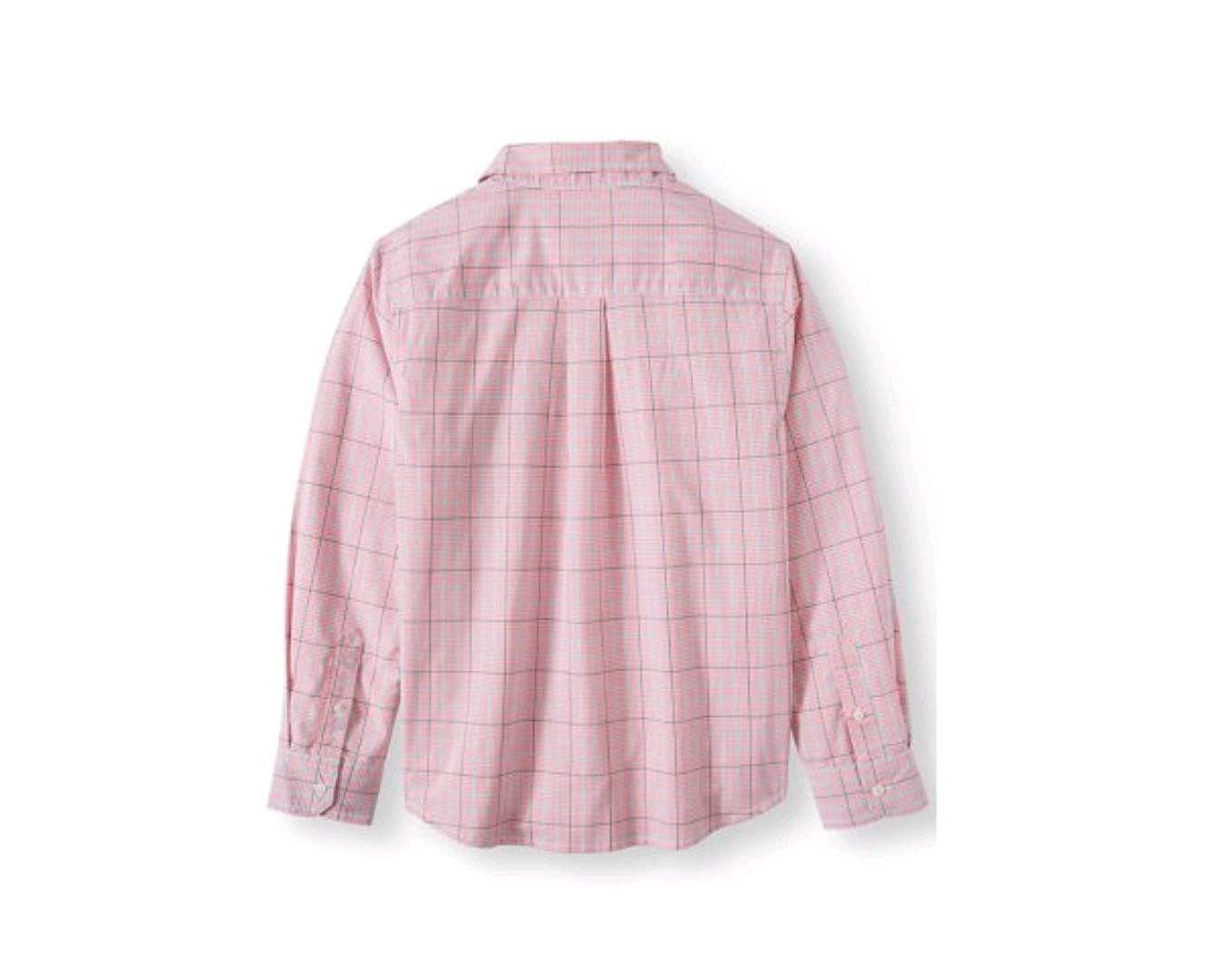 4a495b864 Amazon.com: Wonder Nation Boy's Long Sleeve Stretch Button Down Plaid Shirt:  Clothing