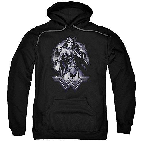Trevco Men's Batman Vs. Superman Rainy Night Hoodie Sweatshirt at Gotham City Store