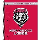 C.R. Gibson 3-Subject Spiral Notebook, New Mexico Lobos (C951327WM)