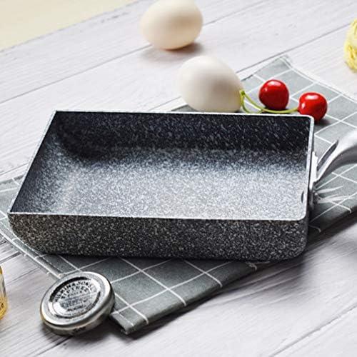UPKOCH Antiadhésif Carré Grill Pan Grill Ustensiles de Cuisine Japonais Roulé Crêpe Omelette Poêle Oeuf Poêle à Frire Plaque pour Barbecue Cuisine à Domicile 37X13x3.3 Cm