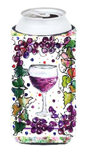 Red Wine Wine Bottle Beverage Insulator Beverage Insulator Hugger Caroline' s Treasures 8616LITERK