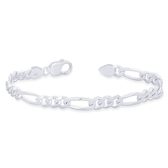 Taraash Figaro 925 Sterling Silver Bracelet For Men AFGH2006C8HIN <span at amazon