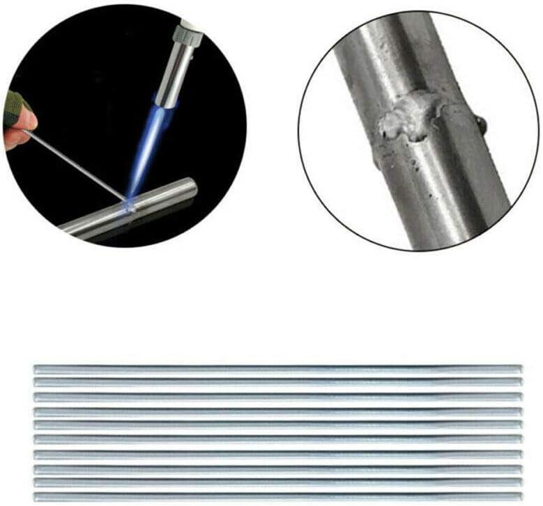 50pcs Easy Melt Welding Wire Set Aluminio Soldadura a Baja Temperatura Varilla Con N/úcleo De Fundente Para Reparaci/ón De Grietas Sin Necesidad De Polvo De Soldadura 1.6mm