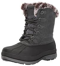 Propet Women's Lumi Tall Lace Snow Boot, Grey, 7.5 4E US