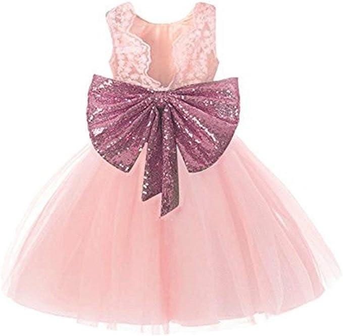 Amazon.com: IIYoyo Vestido sin mangas para bebé, niñas ...