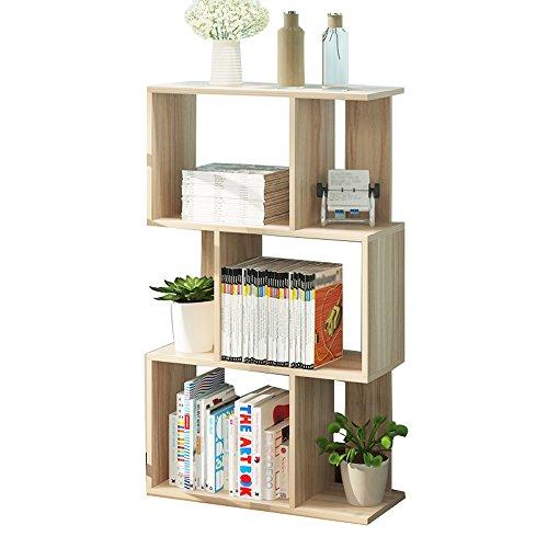 Amazon.com: S-J - Estantería de madera para libros, 3 pisos ...