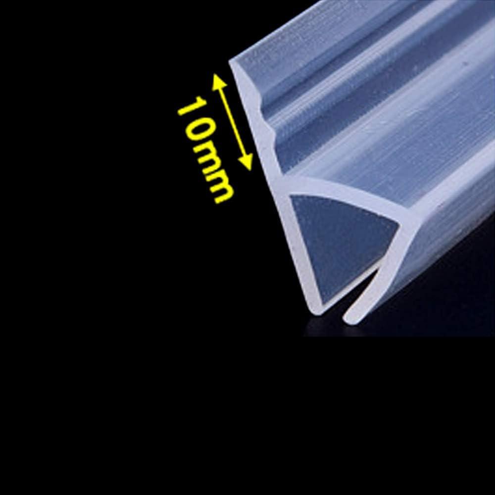 Mintice tira de sellado de la puerta del ba/ño sello de espacio de ventana de mampara de ducha curvo plano caucho vaso fondo clima 10mm 39 pulgadas en forma de F