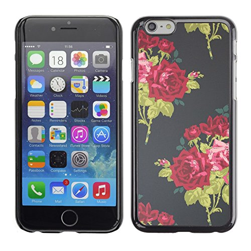 Soft Silicone Rubber Case Hard Cover Protective Accessory Compatible with Apple iPhone? 6 (4.7 Inch) - vintage dress fashion flowers