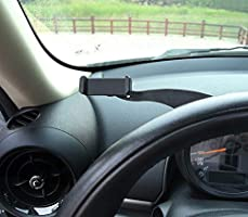Miniclue Behind Tachometer Bolt-On Smartphone Cell Phone Cup Mount GPS Holder with Cradle Rotatable Clip for Mini Cooper R60 Countryman or R61 Paceman,1 Pack