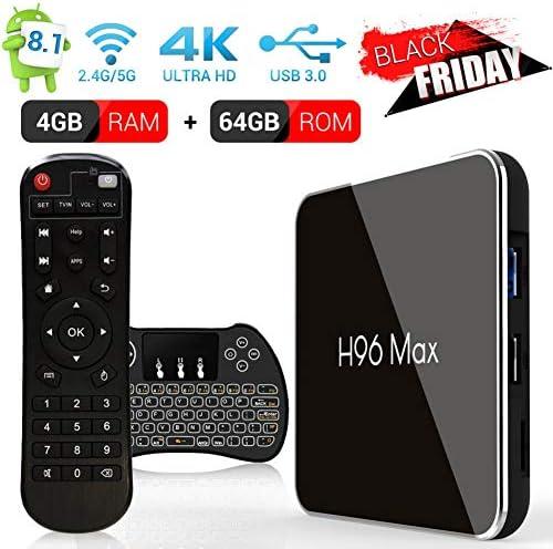 Android 8.1 Smart TV Box de H96 MAX X2, 4G + 64G, Amlogic S905 X2 CPU de Cuatro núcleos, Puerto HDMI2.0, Soporte 4K Ultra HD / 2.4G 5G Dual WiFi / Real