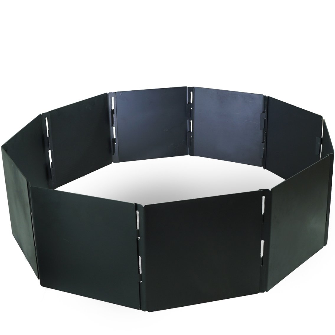 Campfire Portable Fire Pit Ring 48'' Diameter 12 Panels Stackable Heavy Steel by Titan Attachments