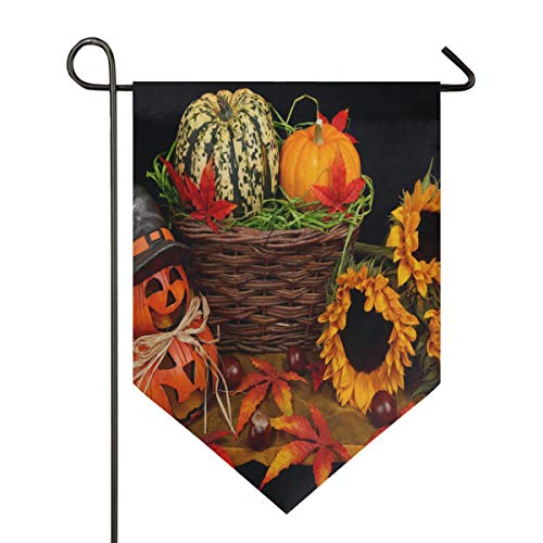 Halloween Decoration in The Living Room Garden Flag Indoor & Outdoor Decorative Flags for Parade Sports Game Family Party Wall Banner Season Porch Lawn Double Sided 28 x 40 inches