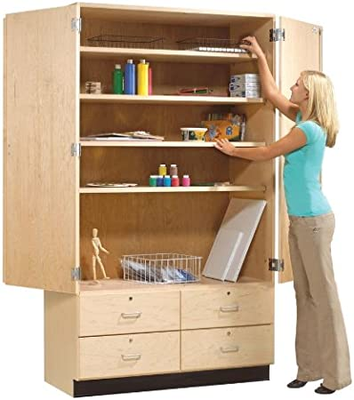 Amazon Com Tall Storage Cabinet With Drawers Kitchen Dining
