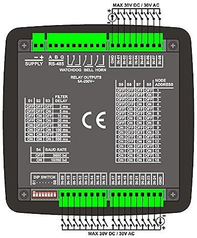 DATAKOM DKM-0224 Detector de peligro, 24 canales, fuente de alimentacion AC: Amazon.es: Industria, empresas y ciencia