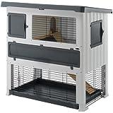 """Ferplast Rabbit Hutch, Grey, 52.76 x 28.74 x 46.06"""""""
