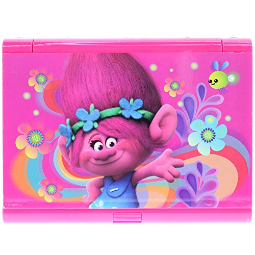 Townley Girl Super Sparkly Lip Compact Cosmetic Set for Girls, 22 lip  glosses, 4 blushes in Mirrored Case (Trolls)