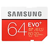 Samsung Electronics 64GB EVO Plus SDXC Upto 80MB/s Class 10 Memory Card (MB-SC64D)