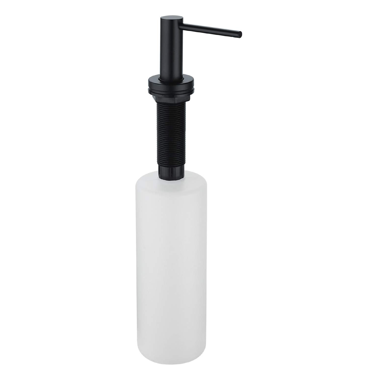 Wasserrhythm Matte Black Built In Kitchen Sink Soap and Lotion Dispenser 17oz by Wasserrhythm (Image #5)