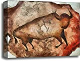 barewalls Bull A La Altamira Gallery Wrapped Canvas Art (16in. x 20in.)