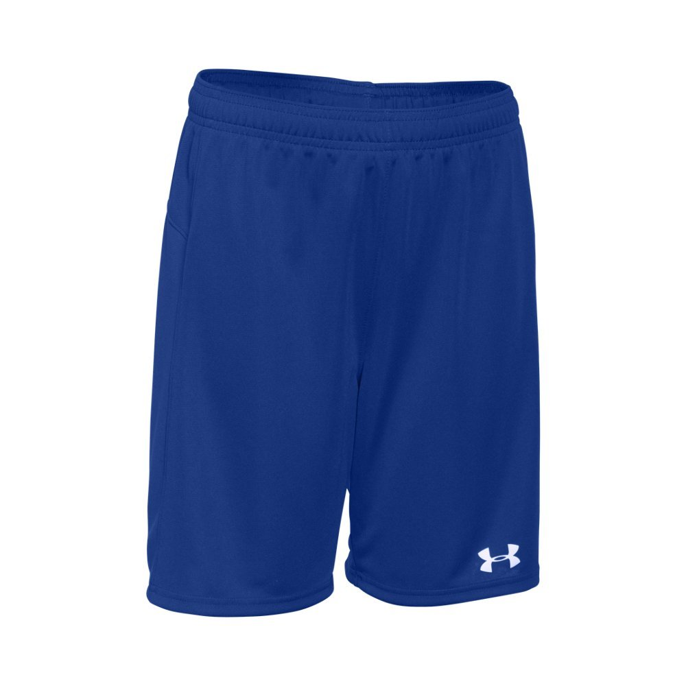 Under Armour Boys' Golazo Soccer Shorts, Royal (400)/White, Youth X-Large by Under Armour
