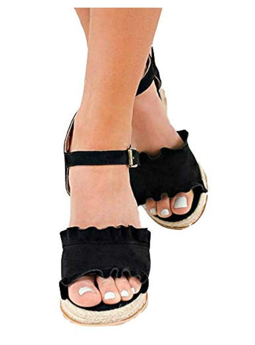 A Black Liyuandian Womens Wedge Espadrille Heel Open Toe Sandals Ankle Strap Platform Summer High Heel shoes