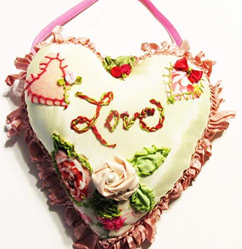 Shabby Chic Heart Pillow, Love Heart Pillow