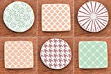 Cookie Stencil set Basic N2, 6 pcs: scales, droops, houndstooth, flowers, shine, caramel