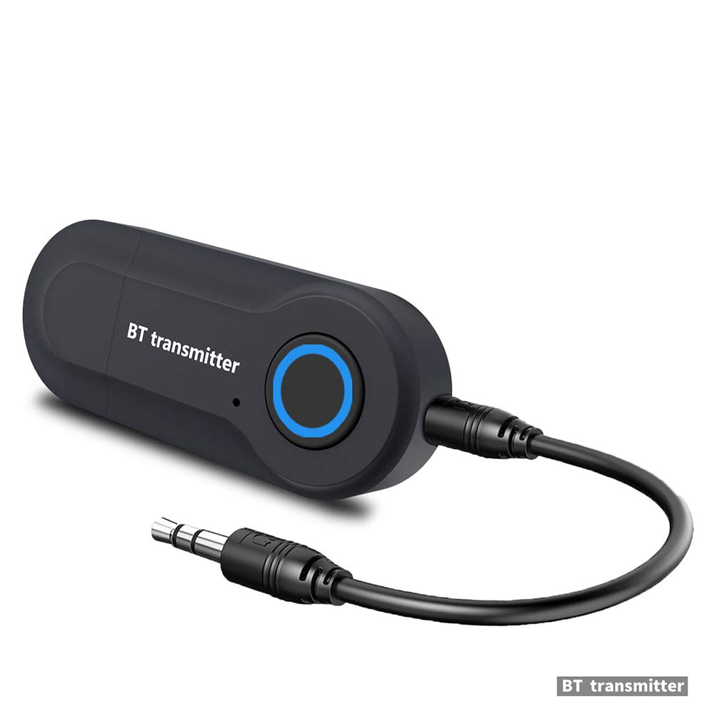 Bluetooth Transmitter Audio Adapter Stereo Audio Transmitter USB Powered 3.5mm Port for Headphones/Laptop/Desktop/TV/via AUX Cable
