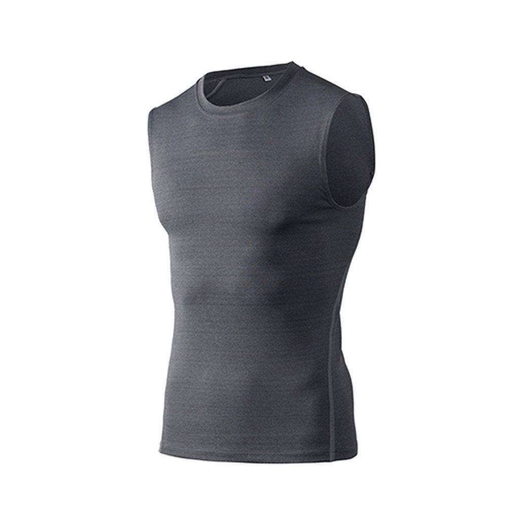 Mens Fashion Compression Tank Top Base Layer Sleeveless Gym Workout Slim Fit Vest