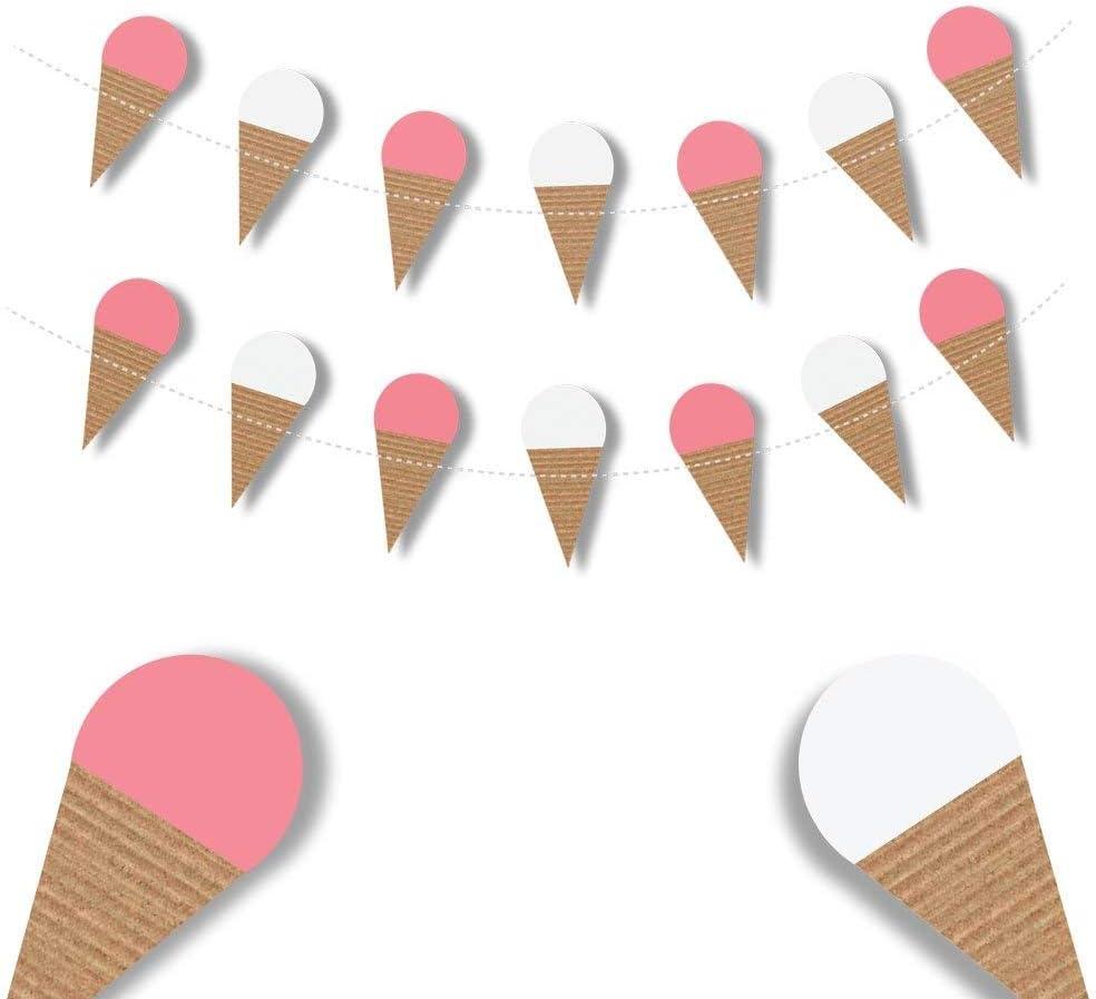 ice cream birthday Ice cream garland ice cream decorations ice cream cone ice cream party ice cream banner ice cream party decorations
