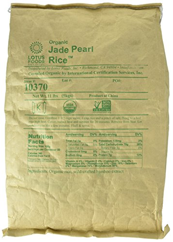 Lotus Foods Organic Jade Pearl Rice, 11-Pound Bag - Packaging may vary (World Organic Bamboo Extract compare prices)