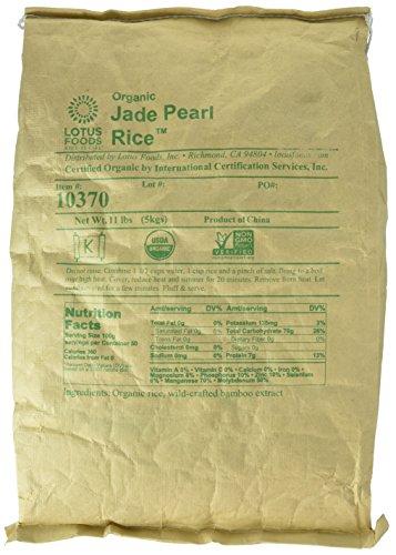 Lotus Foods Organic Jade Pearl Rice, 11-Pound Bag