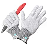 DXDIN Cut Resistant Gloves Kitchen Safety Hand Protection Gloves Level 5 HPPE Food Grade Material knitted with EN...