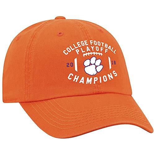 Elite Fan Shop Clemson Tigers National Champs Hat 2018-2019 Orange Prime - Adjustable
