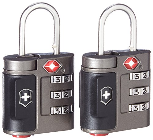 Travel Sentry Approved Lock - Victorinox Travel Sentry Approved Combination Lock Set, Grey