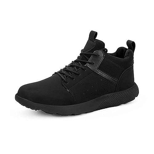 Zapatos de Deporte Hombre Zapatillas Deportivo Correr Gimnasio Casual Sneakers Zapatos para Caminar Negro Amarillo Negro-Blanco 40-46: Amazon.es: Zapatos y ...