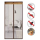 Nclon Magnetic screen door With heavy duty For insect,Mosquito patio screens Automatic closing Punch-free-A 90x190cm(35x75inch)
