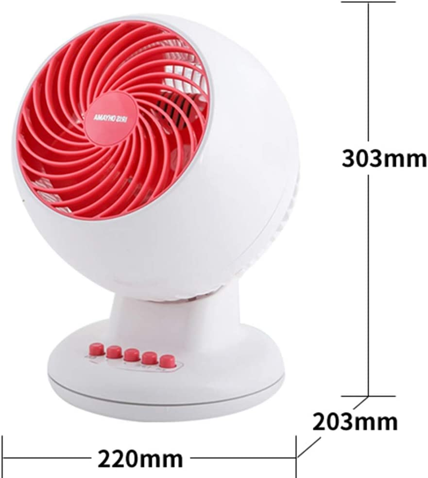 Desktop Mute Air Circulation Small Turbine with Remote Control Swing Up and Down Timing Convenience Tingting Color : White, Size : C18TC Fan